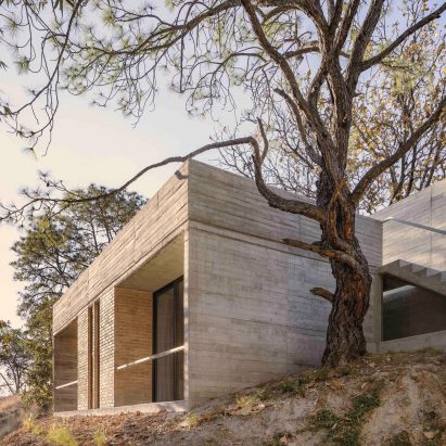 The home has a concrete construction