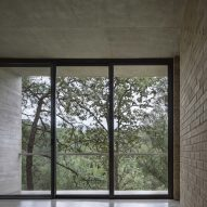 Large windows were placed in the interior