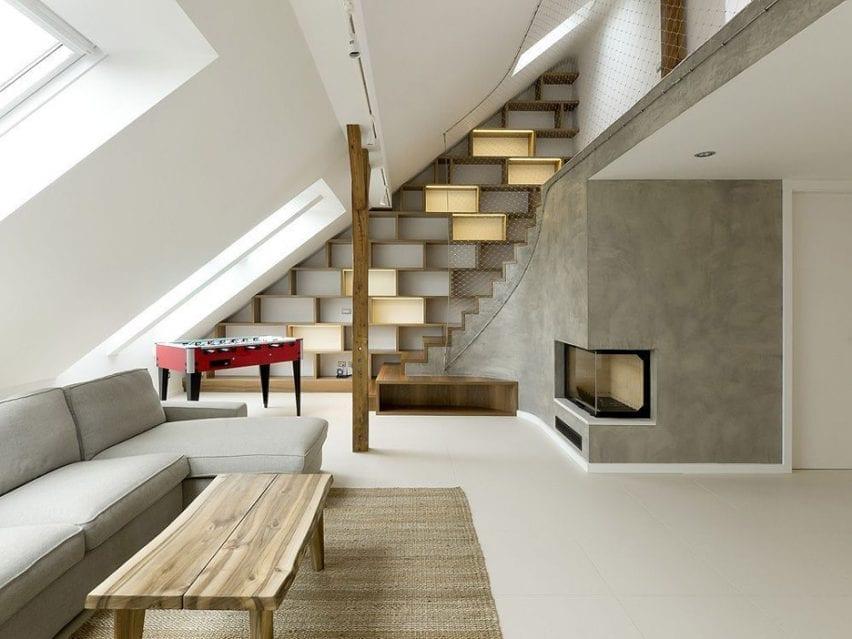 Attic apartment in Prague