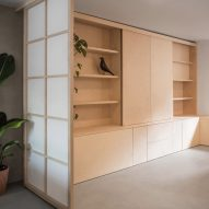 Wooden cabinetry inside Rushmore House by Yellow Cloud Studio