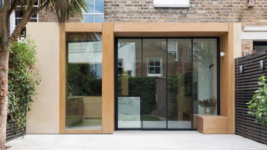 A wooden extension to a London terraced house