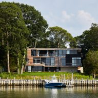 KOS+A designs waterfront Hamptons home for watching the sunset