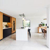 A white-walled kitchen