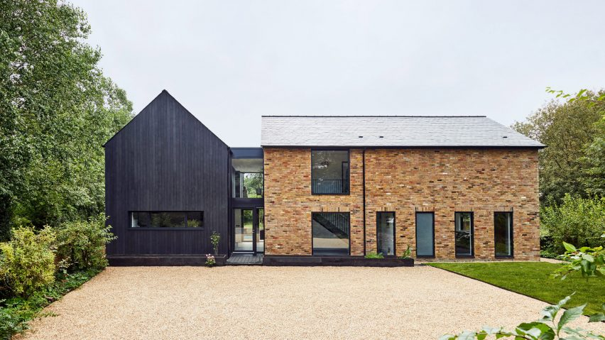 A 1970s house with a blackened-timber extension