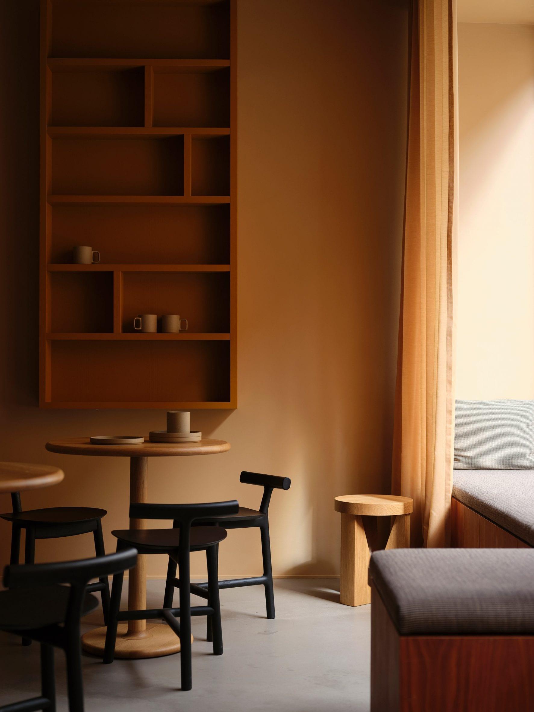 samsen atelier uses warm toned throughout the interior