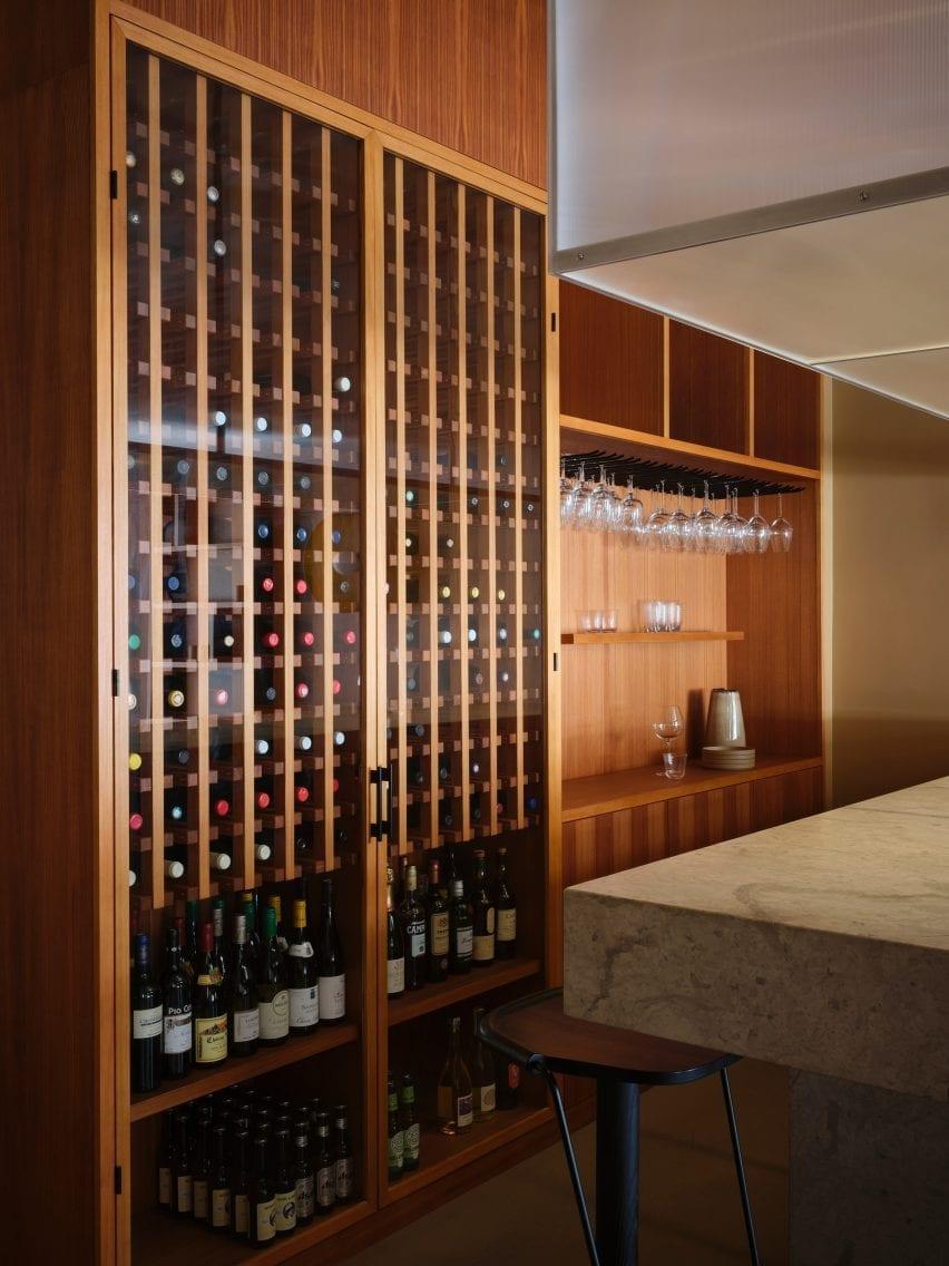 Samsen atelier has large wine storage