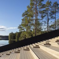 Stepped wooden seating