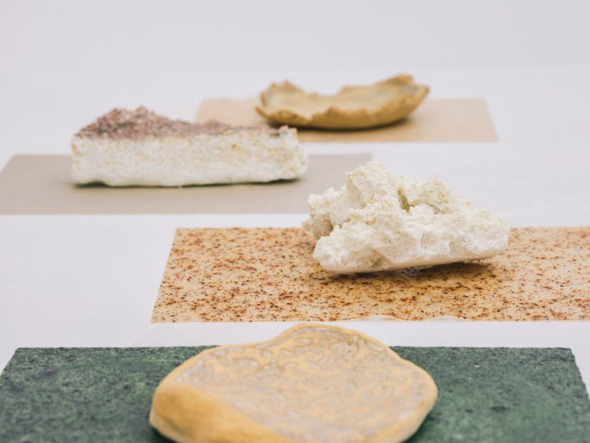 Recycled seashells ceramics