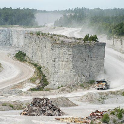 Slite cement plant in Gotland, Sweden
