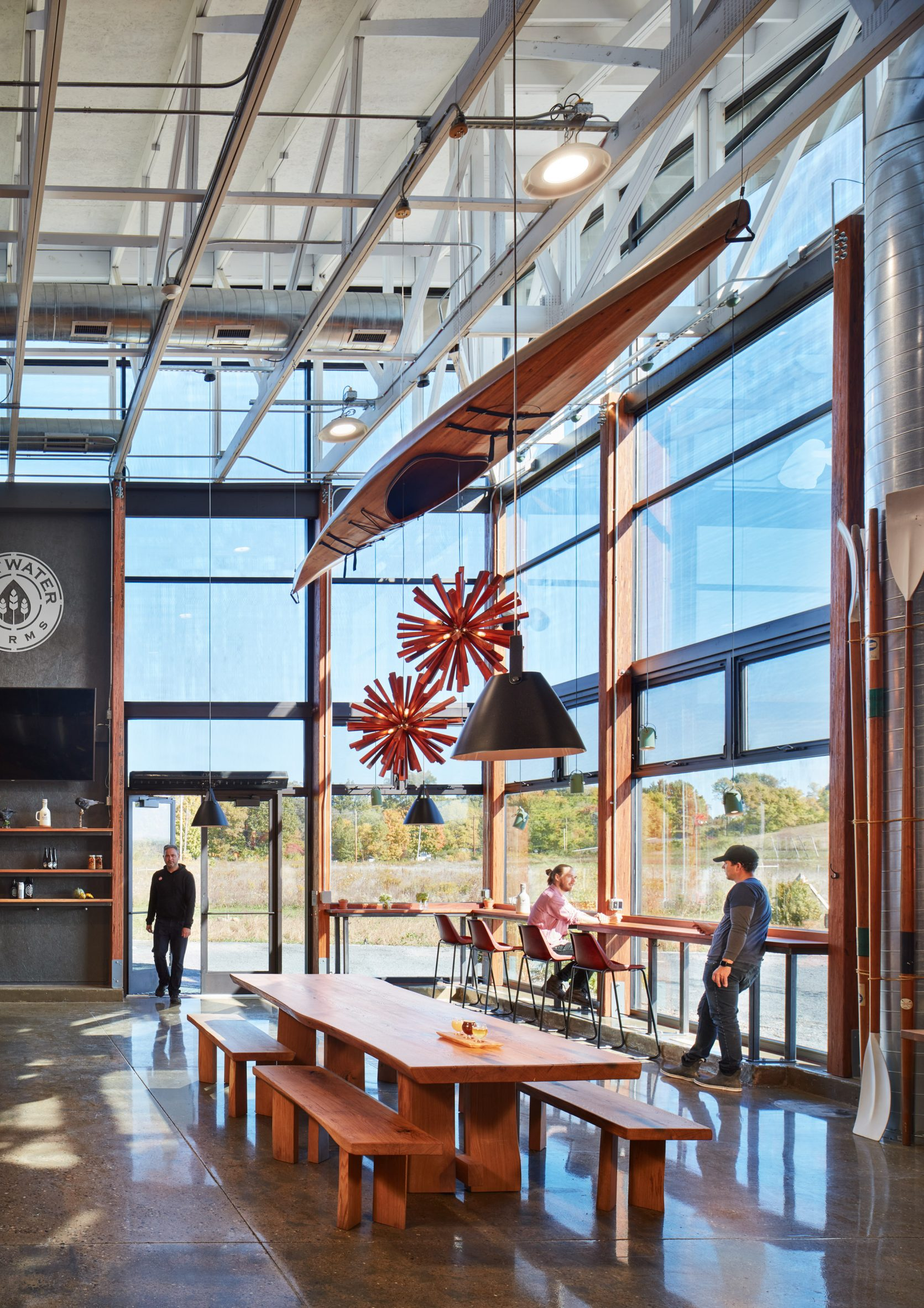 Moss included a tasting room in the project