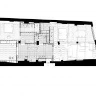 Floor plan, St John Street warehouse apartment by Emil Eve Architects
