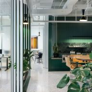 Chicago's Swiss Consulate interior is a nod to 1960s modernism