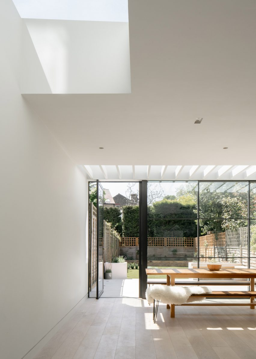Skylights in T-House by Will Gamble Architects