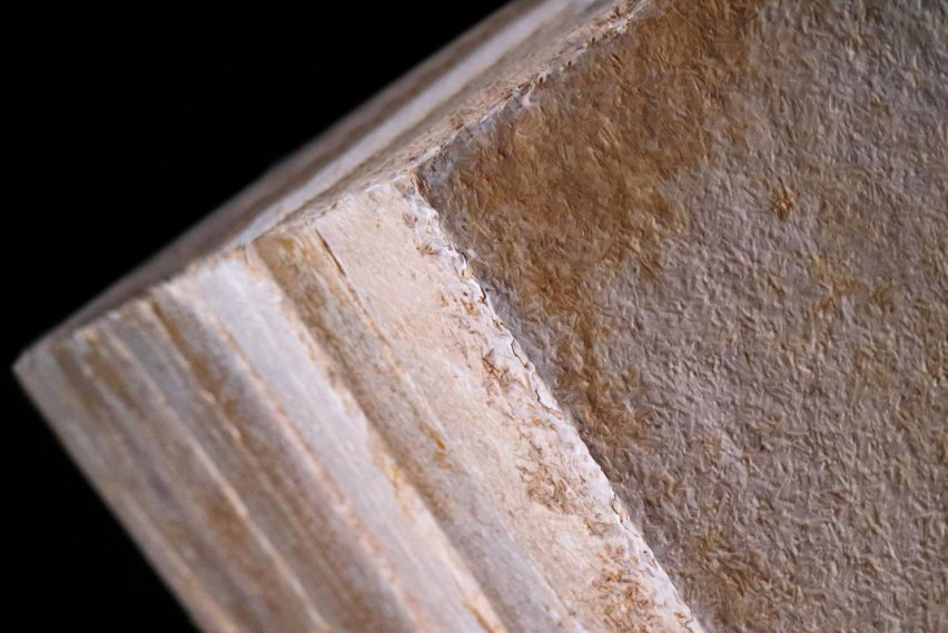 Mycelium insulation block