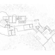 Ground floor plan, The Rock house in Whistler by Gort Scott