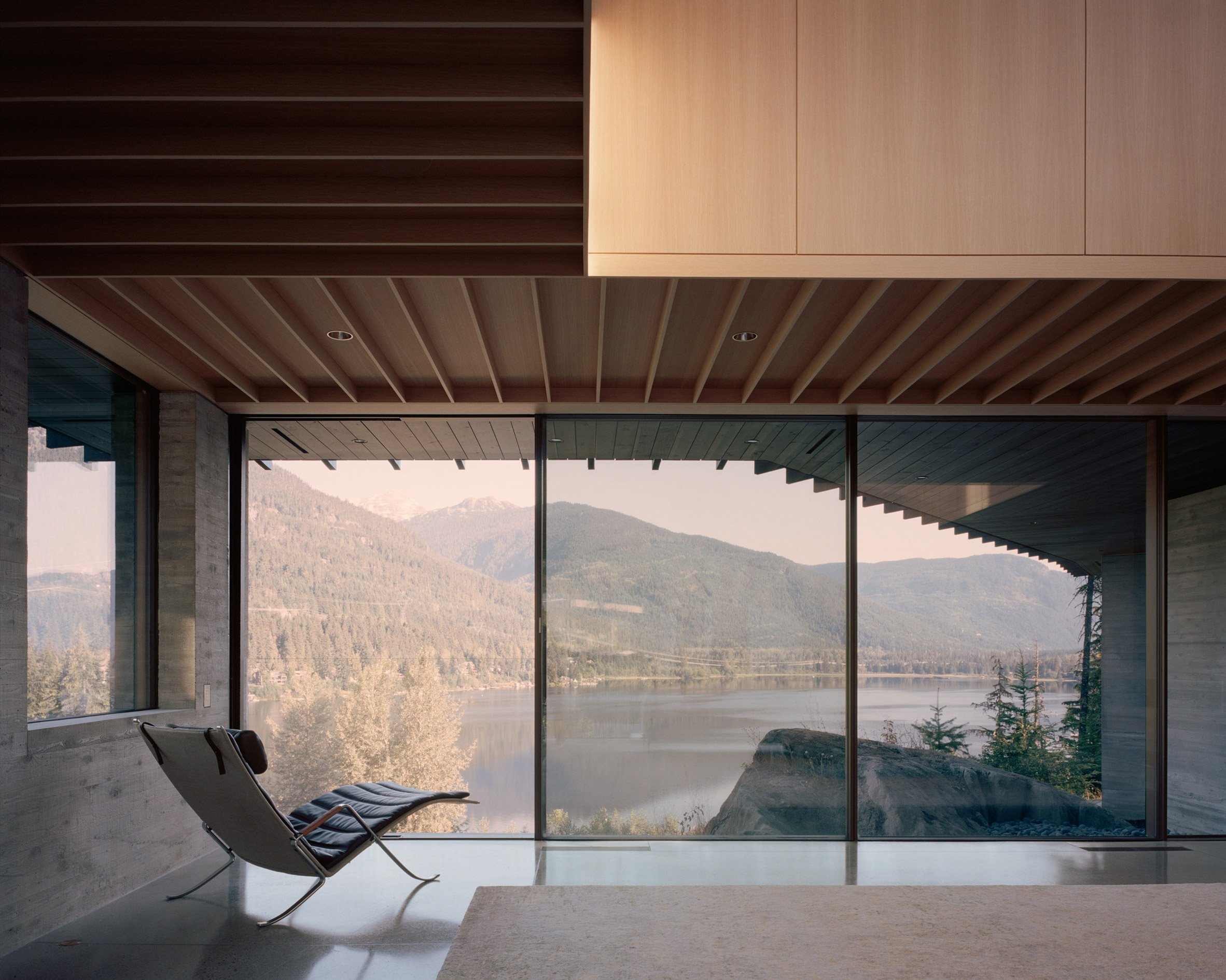Window overlooking the lake, The Rock house in Whistler by Gort Scott