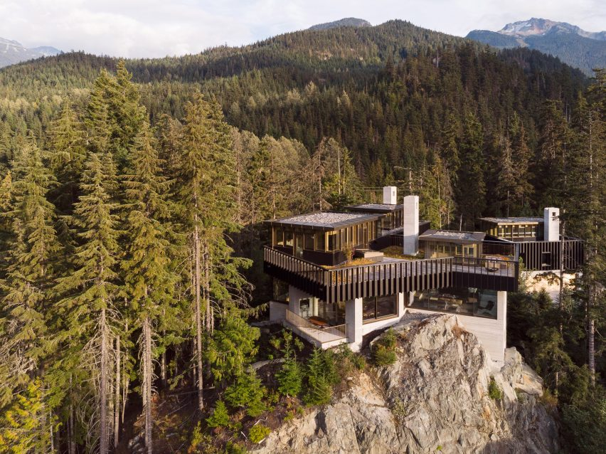 Aerial view, The Rock house in Whistler by Gort Scott