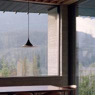 Dining table, The Rock house in Whistler by Gort Scott