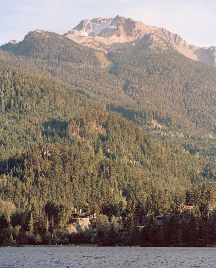 Mountain and lake landscape, The Rock house in Whistler by Gort Scott