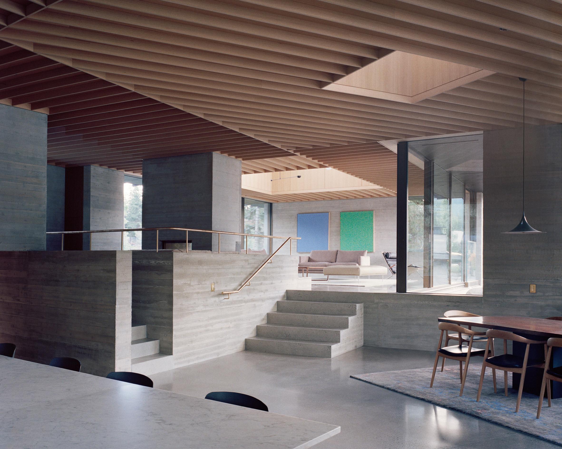 Living room, The Rock house in Whistler by Gort Scott