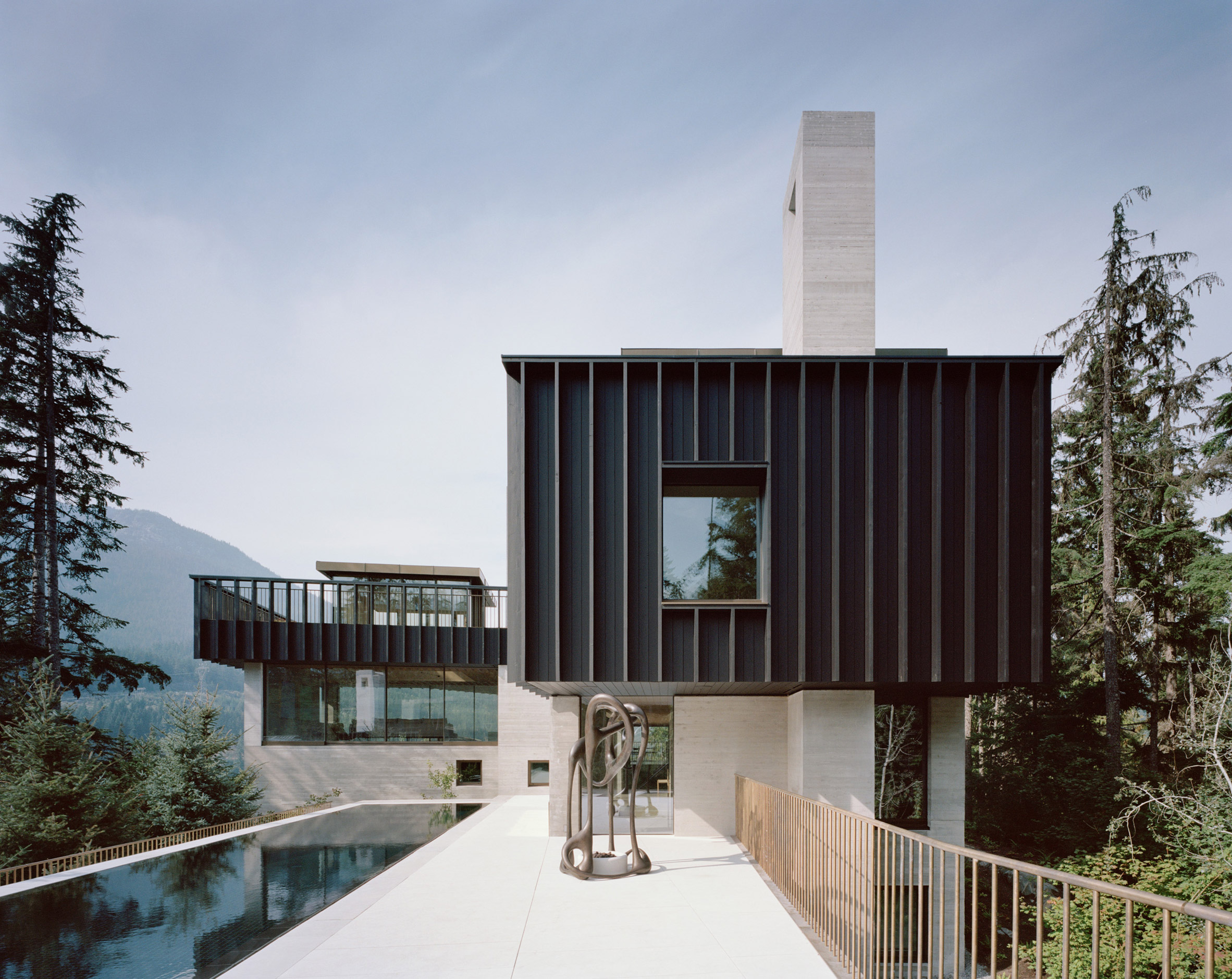 Terrace and swimming pool, The Rock house in Whistler by Gort Scott