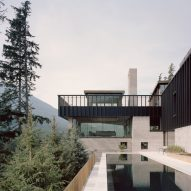 Swimming pool, The Rock house in Whistler by Gort Scott