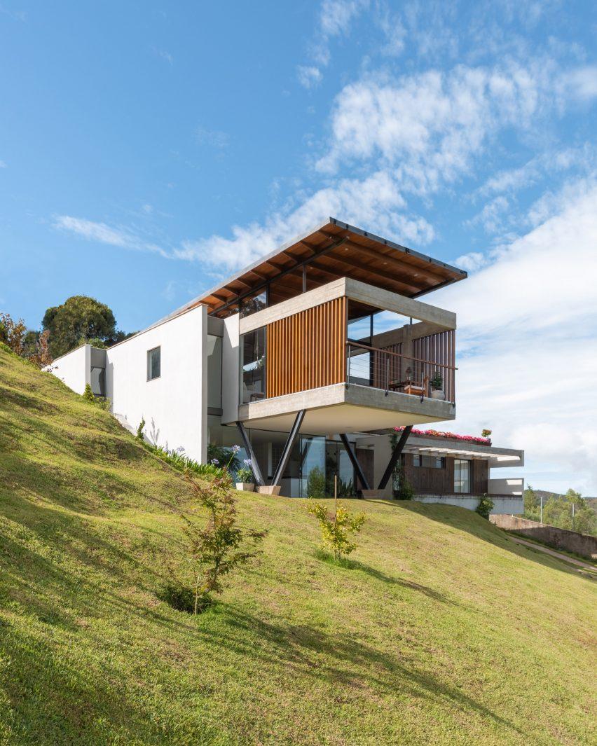 Hillside view of TKN house