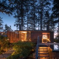 Olson Kundig perches beach home on stilts in Canadian forest