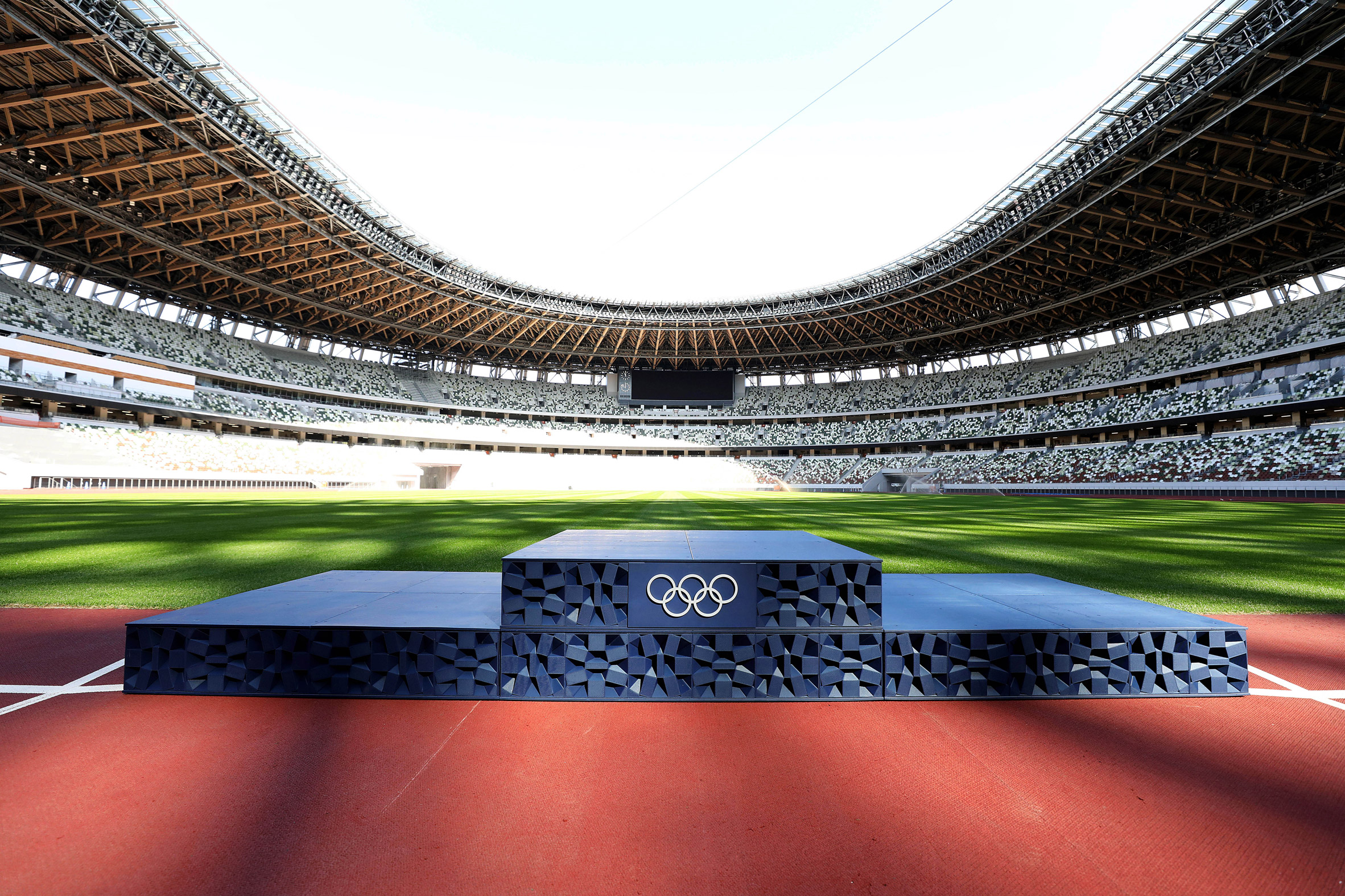 3d-printed Podium in a sports stadium