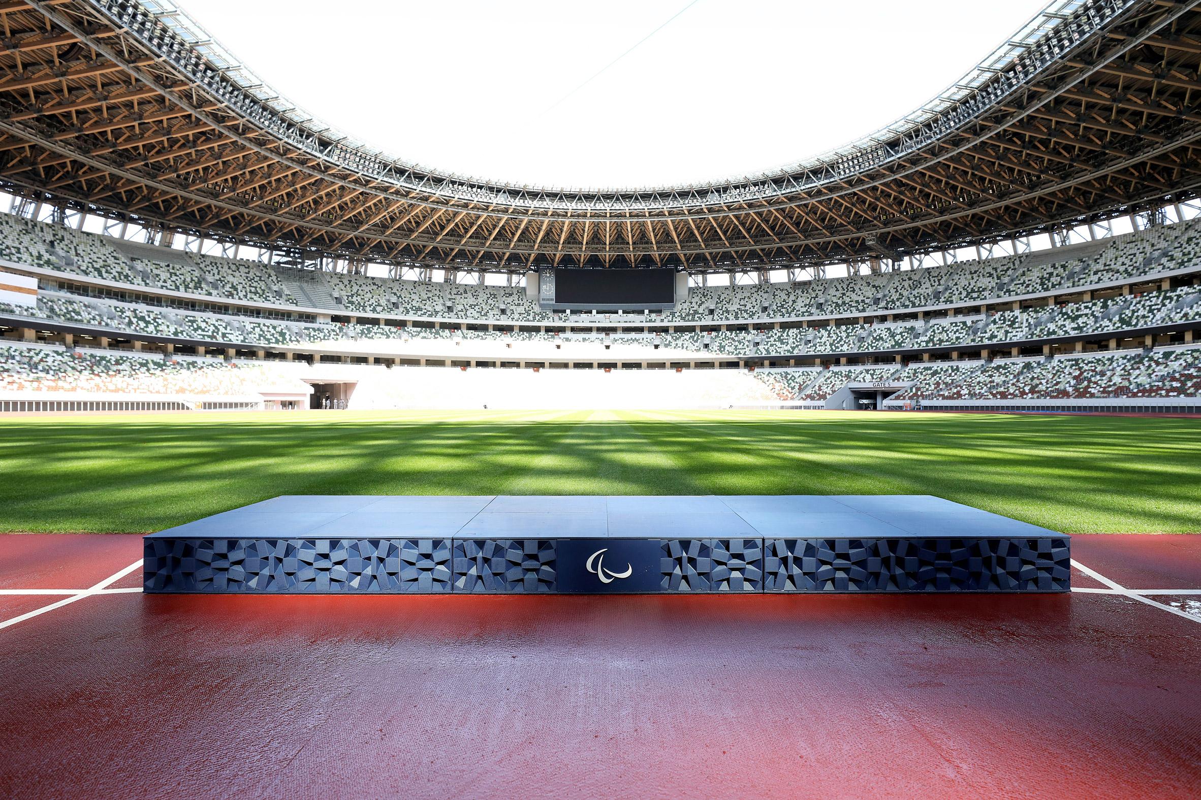 Paralympic podium