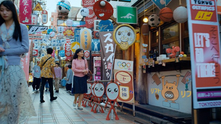 Tokyo street scene in BBC trailer for Tokyo 2020 Olympics produced by Factory Fifteen and Nexus Studios