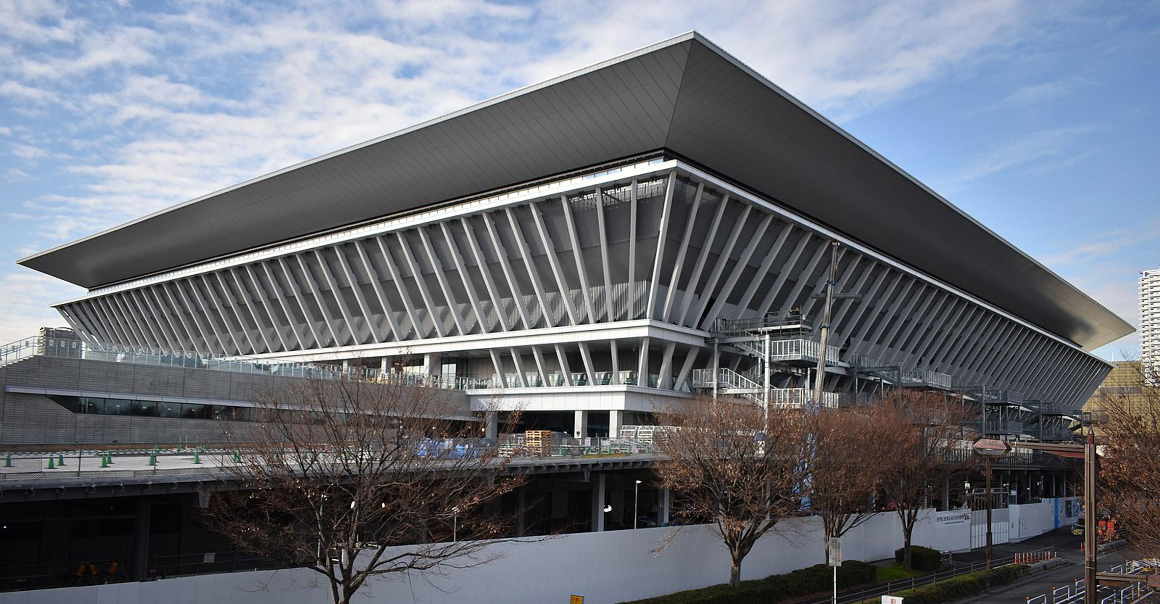 Tokyo Aquatics Centre by Yamashita Sekkei and Tange Associates