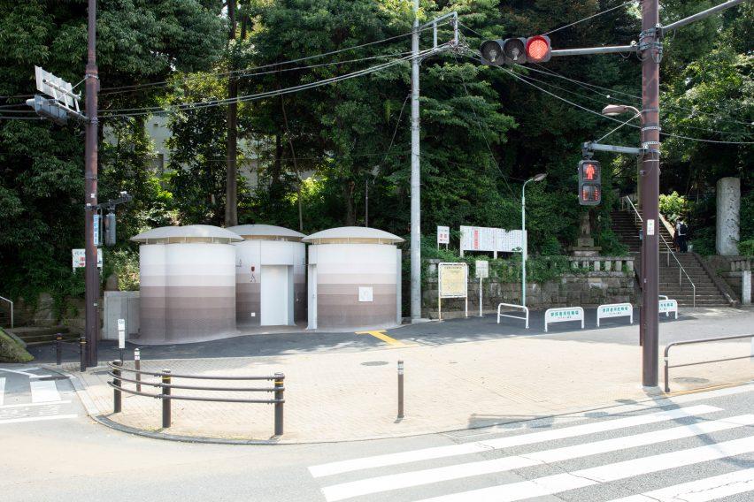 Toilet dekat kuil Yoyogi Hachimangugu
