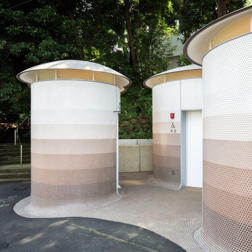 Toyo Ito designs trio of mushroom-like public toilets in Tokyo