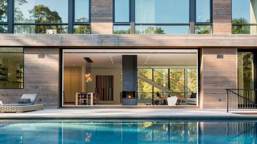Old Sag Harbor Road in Southampton, the Hamptons, by Blaze Makoid Architecture