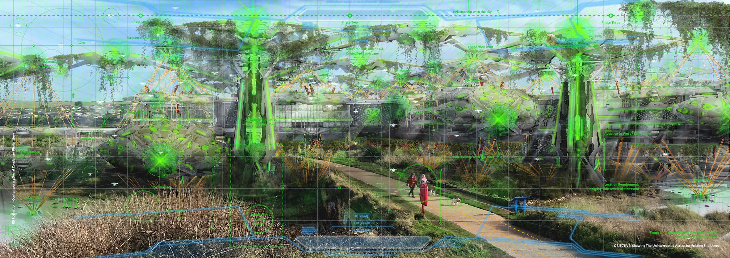 University of Brighton students designed the work