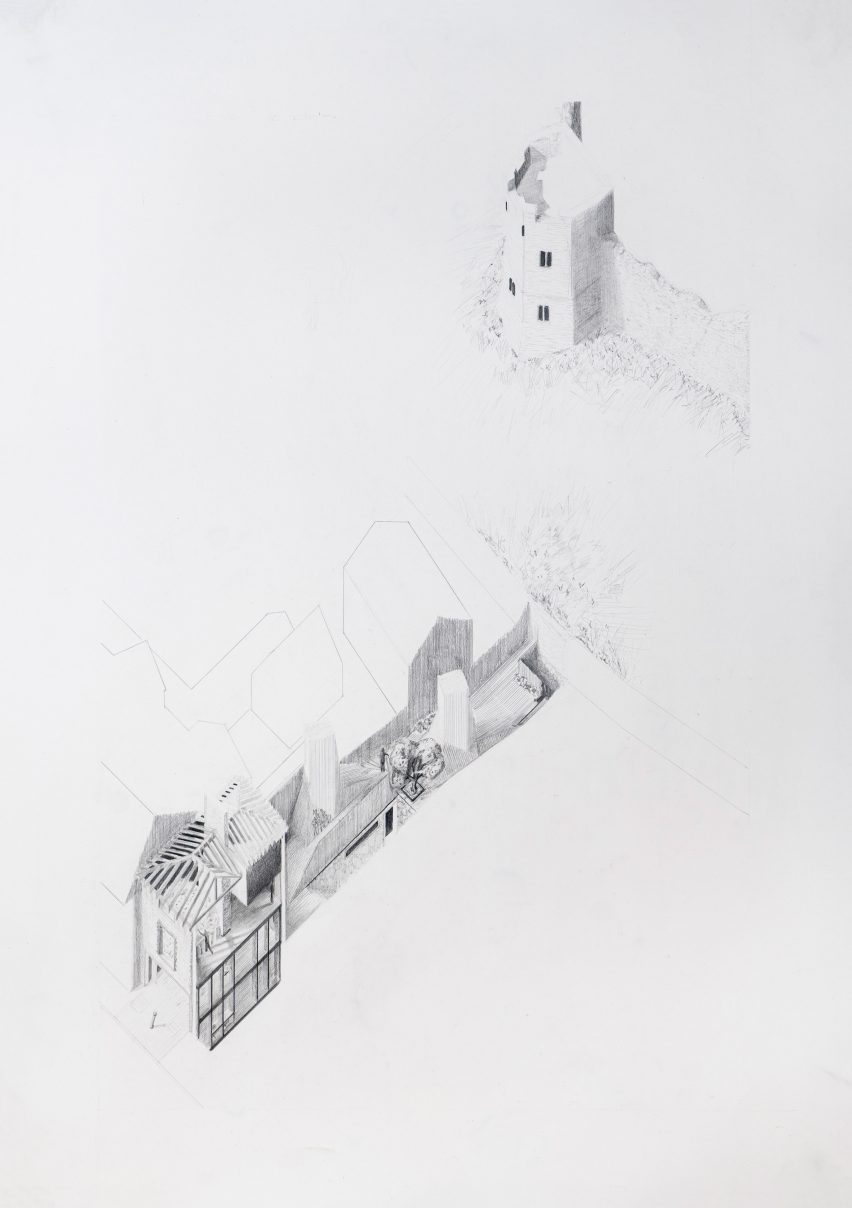 A drawing by an architecture student