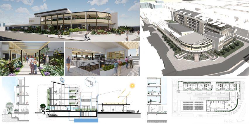 Proyek ini dikerjakan oleh mahasiswa arsitektur dari The University of Technology, Jamaica