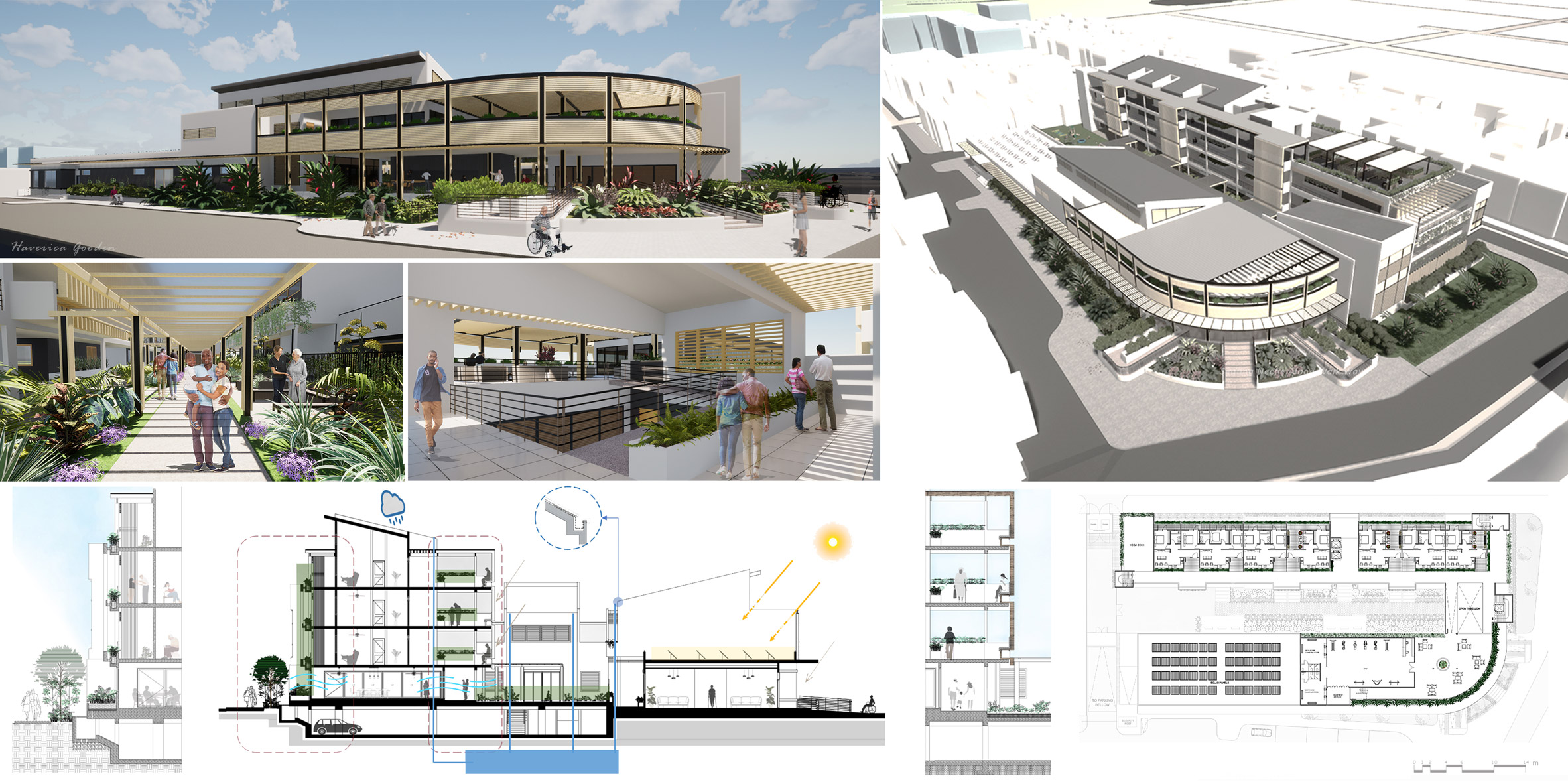 The projects are by architecture students from The University of Technology, Jamaica