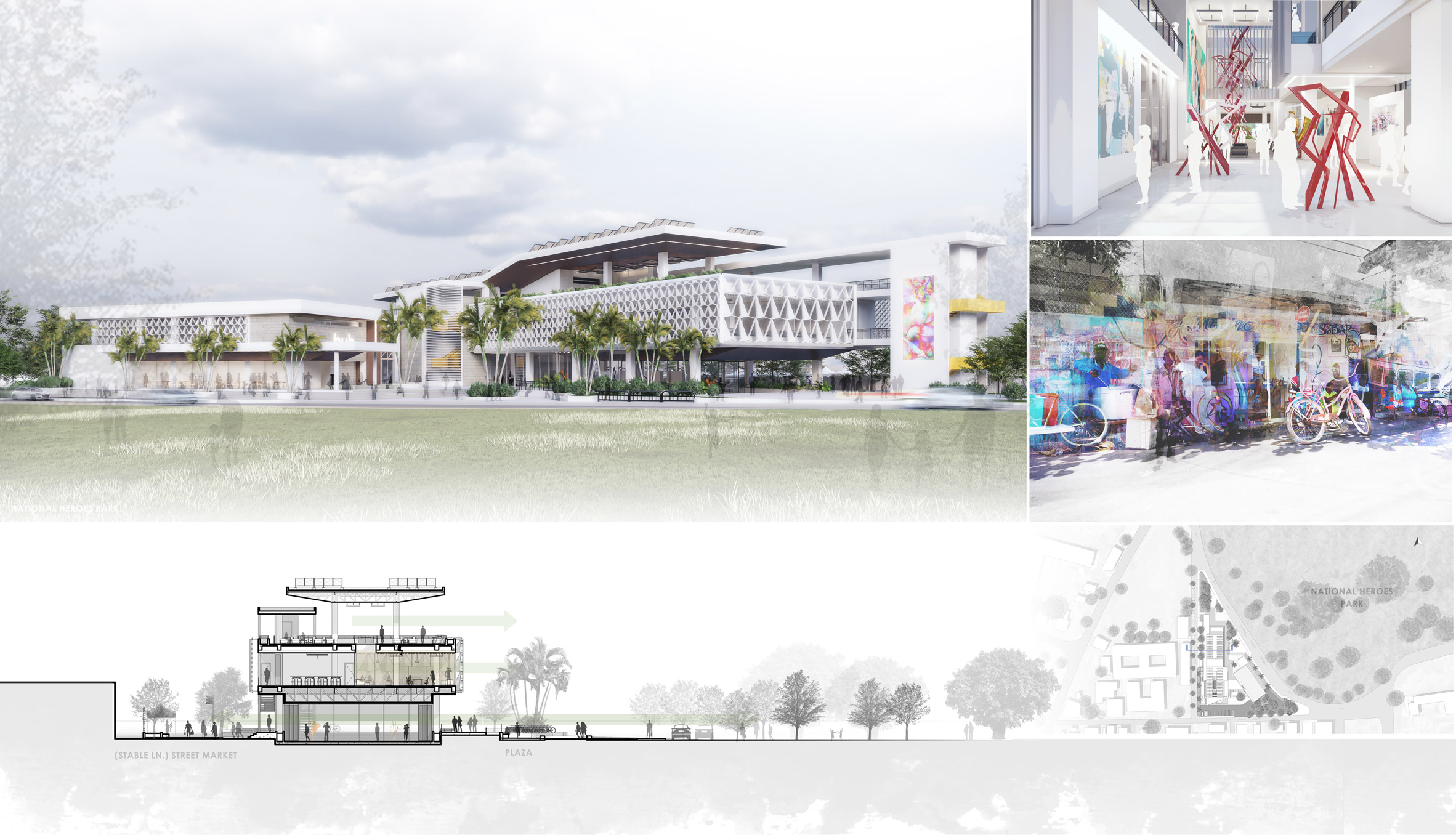 The University of Technology, Jamaica students have designed architecture projects