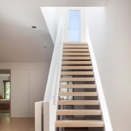 Space4Architecture adds skylight staircase to minimal Brooklyn townhouse