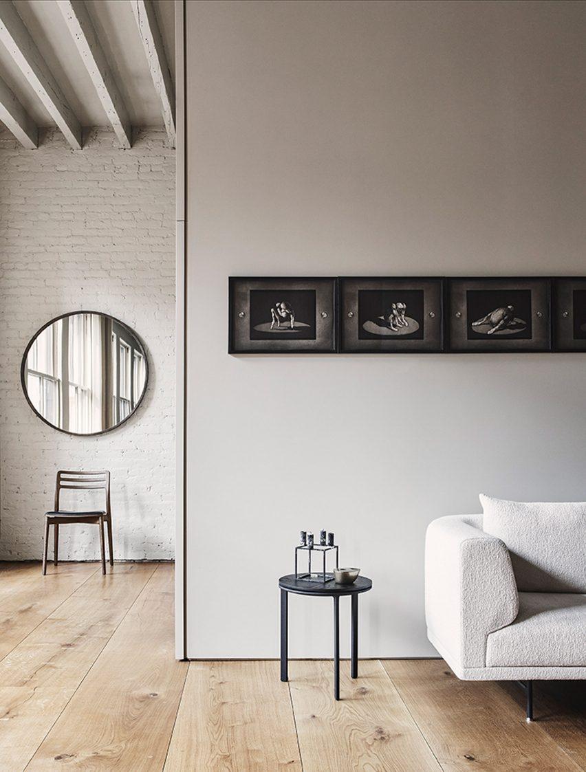 Showroom's minimalist interior