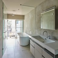 A bathroom inside Weather House by Not Architects Studio