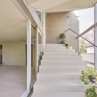 A house with an external stair