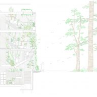 Section of Weather House by Not Architects Studio