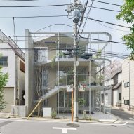 Not Architects Studio encloses terraces with metal mesh at Weather House