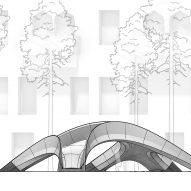 Elevation drawing of the bridge