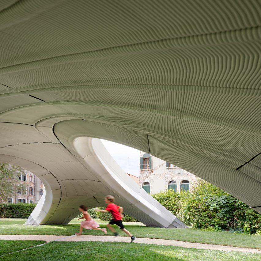 Zaha Hadid Architects creates 3D-printed concrete bridge at Venice Architecture Biennale