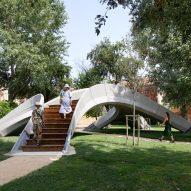 "Striatus 3D-printed bridge ""establishes a new language for concrete"" says Holcim CEO"