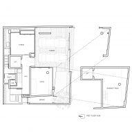 Ground floor plan, 55 Sathorn house by Kuanchanok Pakavaleetorn Architects